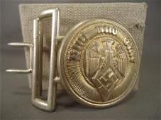 German WW II Hitler Youth HJ Leaders Belt Buckle