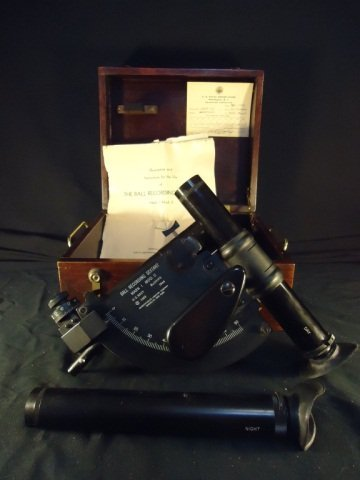 WWII U.S. Navy Ball Recording Sextant