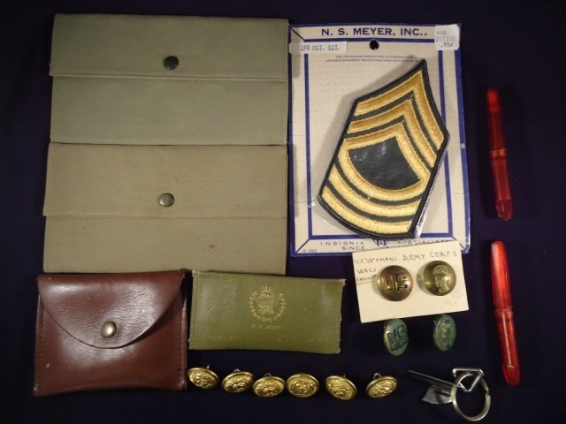 Assorted US Army and Merchant Marine Items