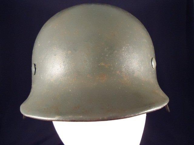 German WW II Army M-35 No Decal Combat Helmet