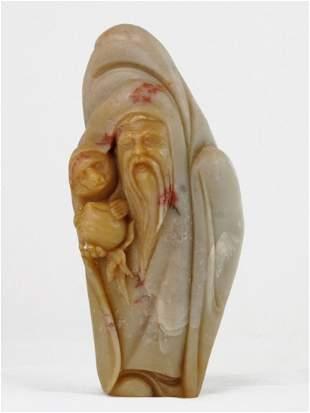 003: Shoushan Soapstone Figure of Shoulao, Chinese God