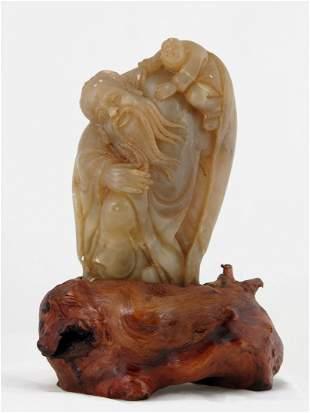 004: Shoushan Soapstone Statue of Shoulao, Chinese God