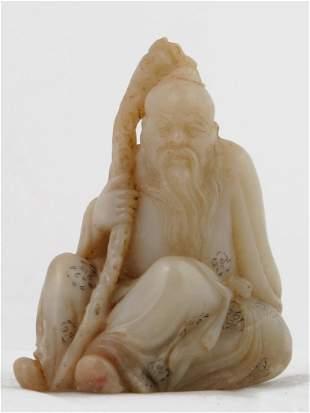 007: Chinese Shoushan Soapstone Figure of Dongfang Shuo