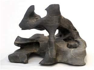 013: A Chinese Scholars' Rock, Black Lingbi Stone