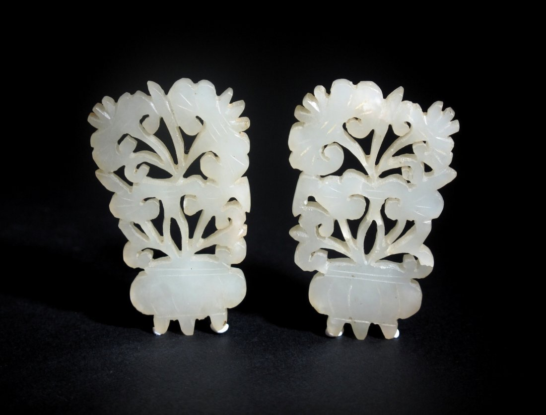 11: A Pair of Chinese Jade Pendants, Ming Dynasty