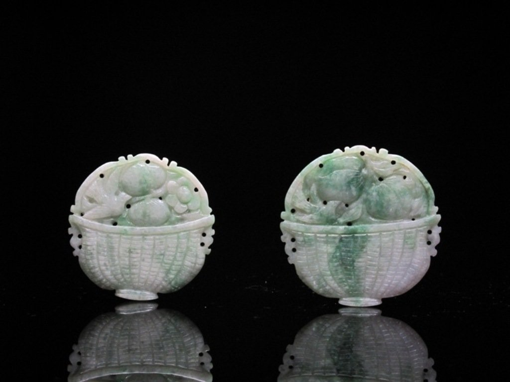 16: A Pair of Chinese Jadeite Plaques