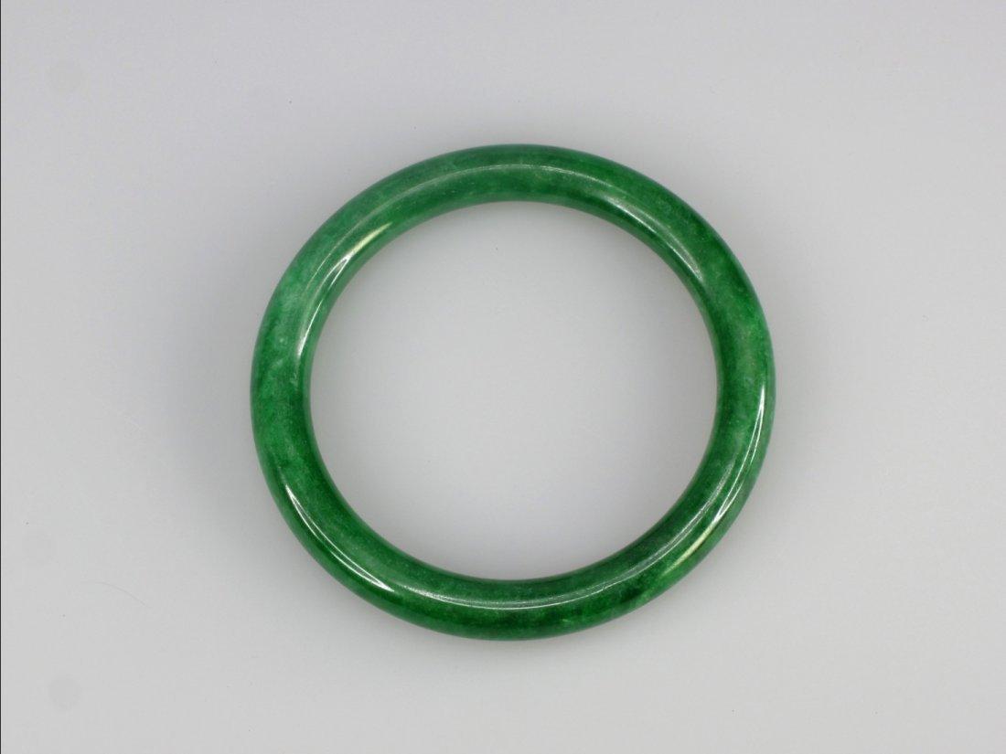 22: A Chinese Jadeite Bangle Bracelet