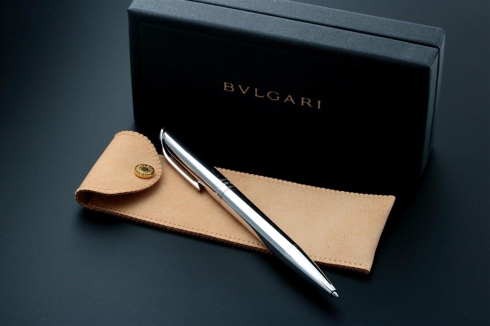 Bvlgari Rollerball Pen Sterling Silver with Box