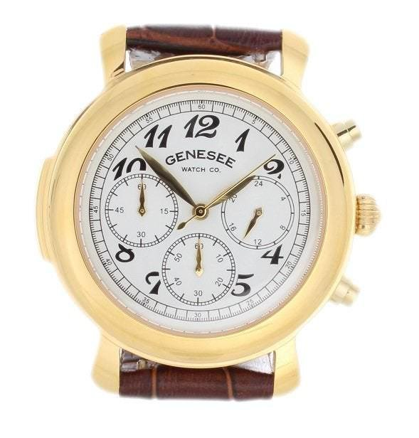 Genesee Watch Co Chronograph Gold Tone