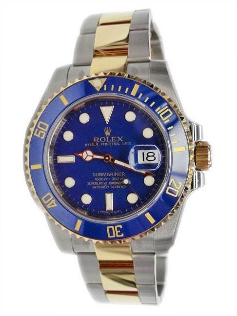 Rolex Blue Submariner Watch 116613 Tutone