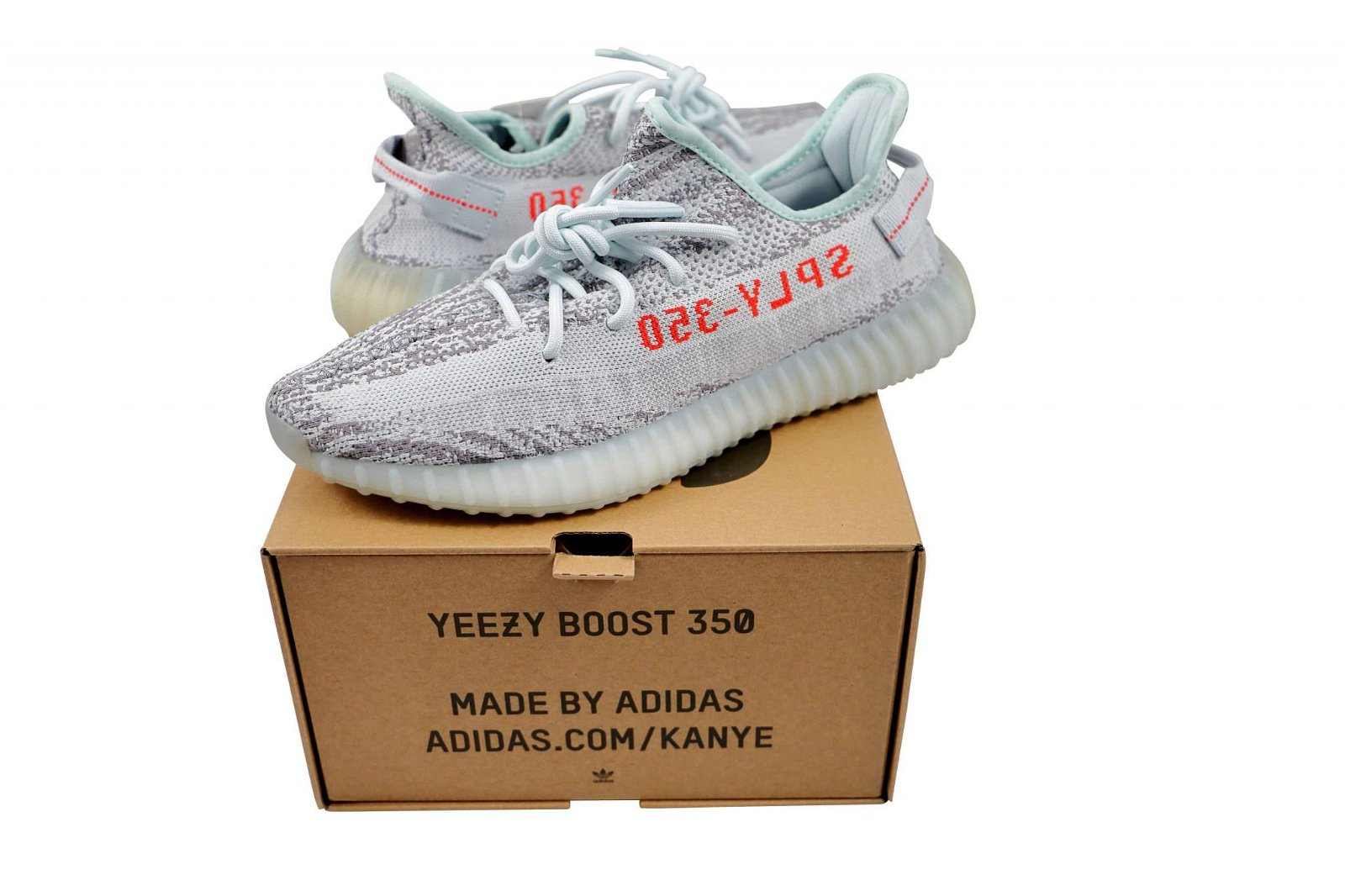 Adidas Yeezy Boost 350 V2 Blue Tint Sneakers Size 11