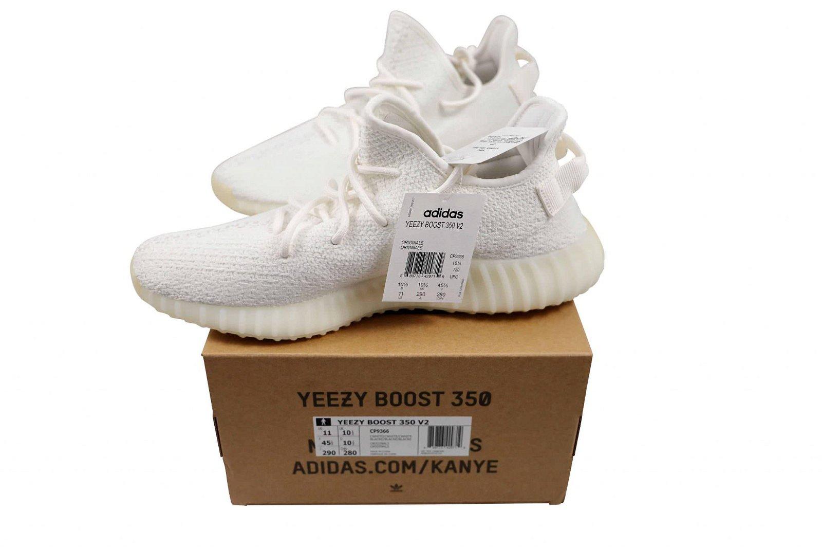 Adidas Yeezy Boost 350 V2 White Cream-Triple Size 11