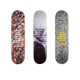 Ai Weiwei Skateboard 3 Deck Set Rare Limited Edition