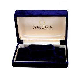 Omega Watch Box Royal Blue Vintage