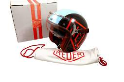 Tag Heuer Monaco McQueen Motorcycle Visor Helmet With