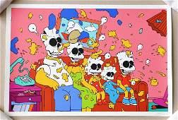 Matt Gondek Nuclear Family Simpsons Print