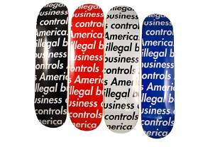 Supreme Illegal Business Controls America Skateboard
