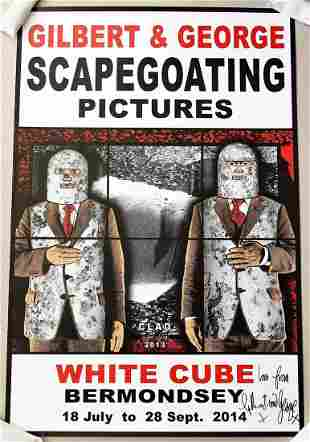 Gilbert & George Signed Scapegoating Pictures Clad
