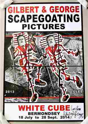 Gilbert & George Signed Scapegoating Pictures Glee