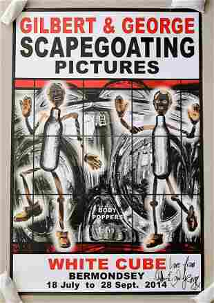 Gilbert & George Signed Scapegoating Pictures Body