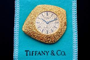 Rare Vintage 18k Gold Patek Philippe Tiffany Ricochet