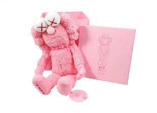 KAWS BFF Plush Pink with Original Box and Numbered Hang