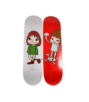 Yoshitomo Nara Skateboard Skate Deck Set of 2