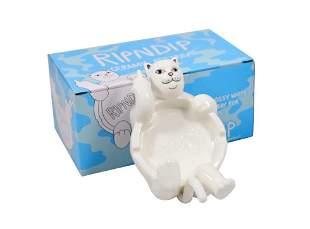 Rip N Dip Lazy Nerm Cat Ceramic Ashtray White
