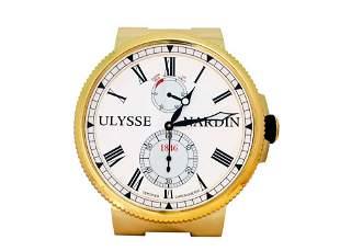 Ulysse Nardin Marine Dealer Wall Clock Gold Tone