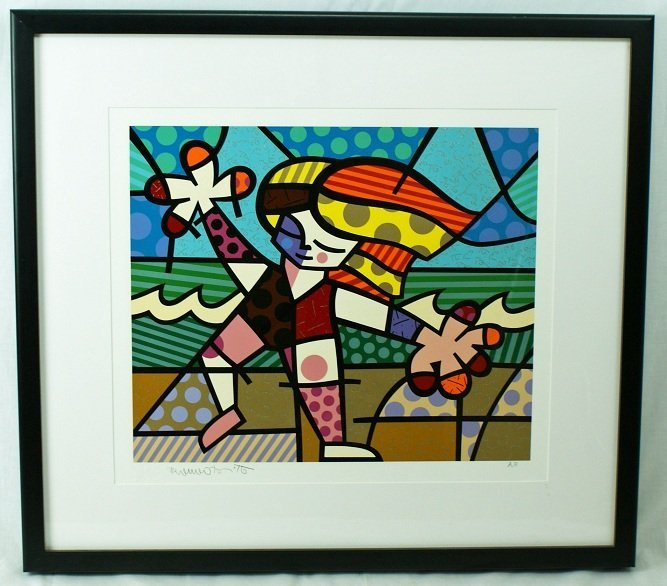 "15: Romero Britto ""Golden Beaches"" AP Serigraph Hand Si"