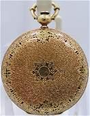 85 18k Yellow Gold Hunter Case Swiss Perrelet Enamel P