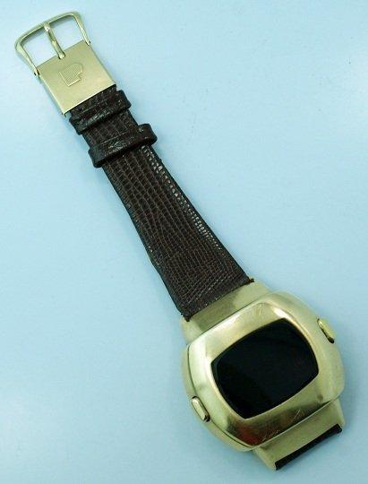 4: Vintage 14K Yellow Gold Pulsar Digital Wrist Watch