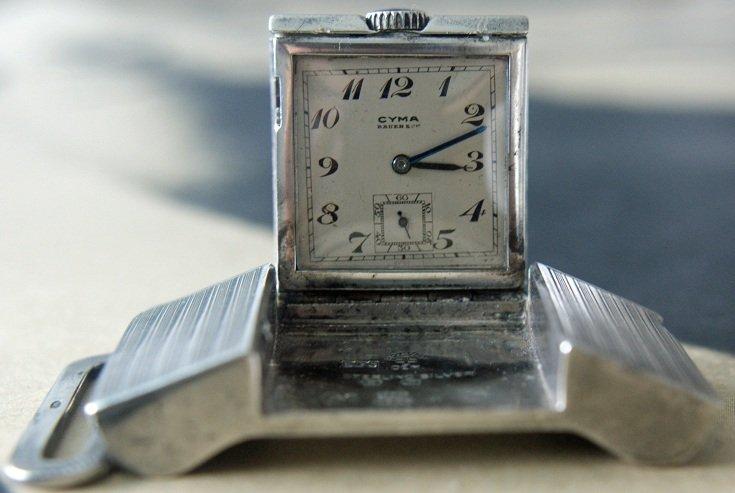 10: Sterling Silver Cyma Brevet Belt Buckle Swiss Trave