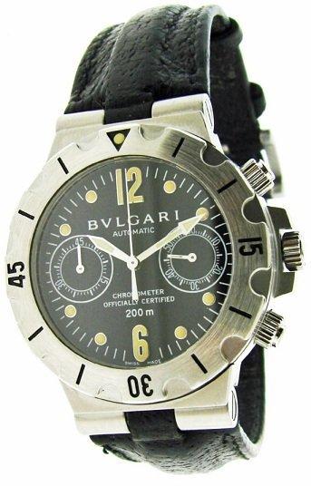 13A: Bvlgari Scuba Chronograph Watch with Bulgari Box