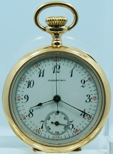 15: 18k Yellow Gold Tiffany & Co One Button Chronograph