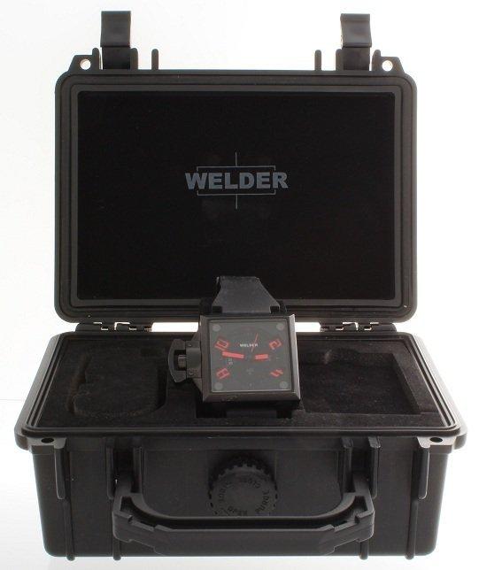 5: Ion Plated Steel Welder K25 Red Indexes Watch