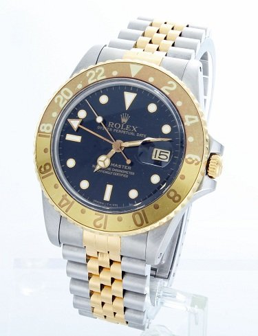 8: Steel and Yellow Gold Rolex GMT Master 16753 Watch