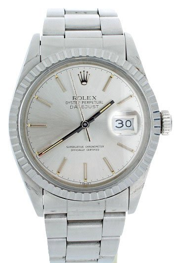 10: Stainless Steel Mens Rolex Datejust Watch #16030
