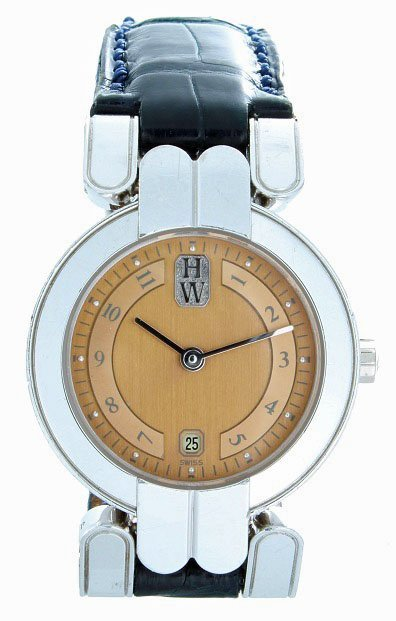 13: 18k Ladies  White Gold Harry Winston Wrist Watch