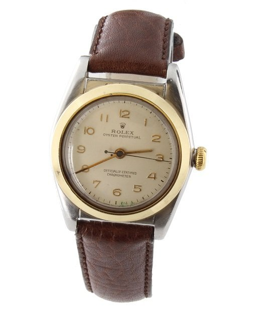 55: Steel and Gold Rolex Oyster Bubble Back #2940 Watch