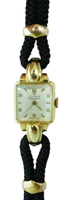 108: Large 18K Yellow Gold Rolex Ladies Watch with Fanc - 2