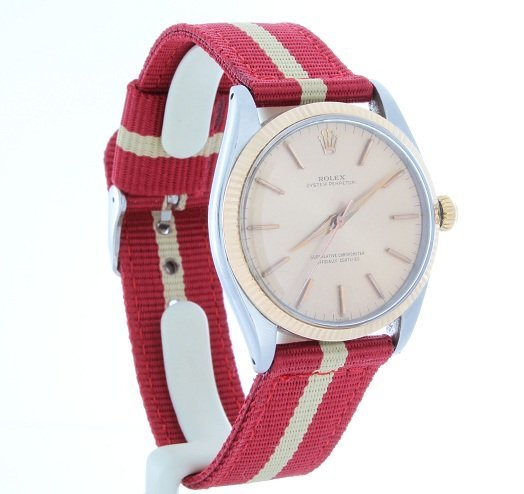 120: Rose Gold and Steel Rolex Oyster Perpetual Watch 1