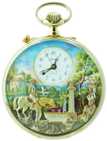 230: Arnex Reuge Swiss Automaton Musical Pocket Watch