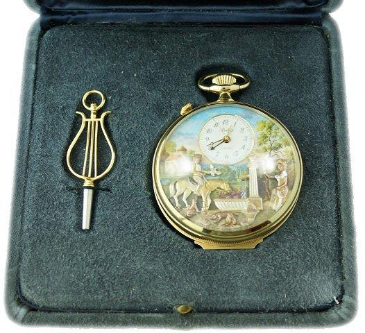 230: Arnex Reuge Swiss Automaton Musical Pocket Watch - 4