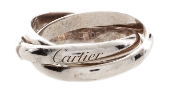 18k White Gold Cartier Trinity Ring