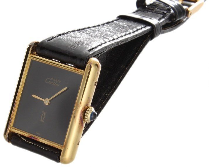 Must de Cartier Tank Vermeil Swiss Mechanical Watch