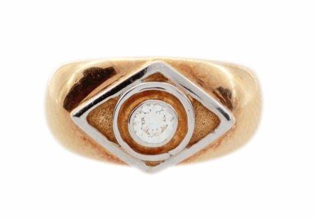 Yellow Gold Lalaounis 0.20ct Diamond Ring