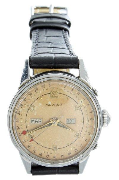 Stainless Steel Triple Calendar Movado Watch