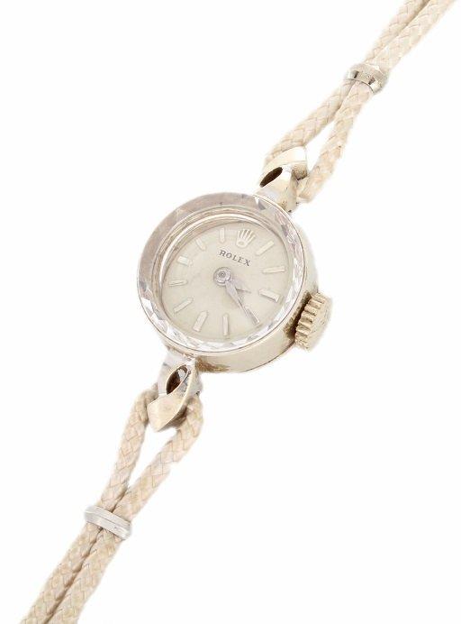 14k Rolex White Gold Cocktail Orchid Ladies Watch