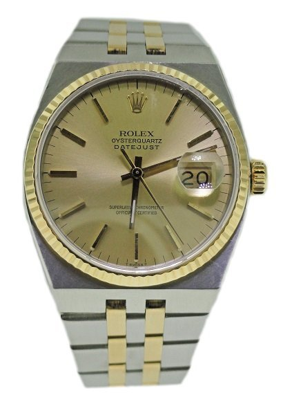 Steel and Yellow Gold Rolex Oysterquartz Datejust Watch